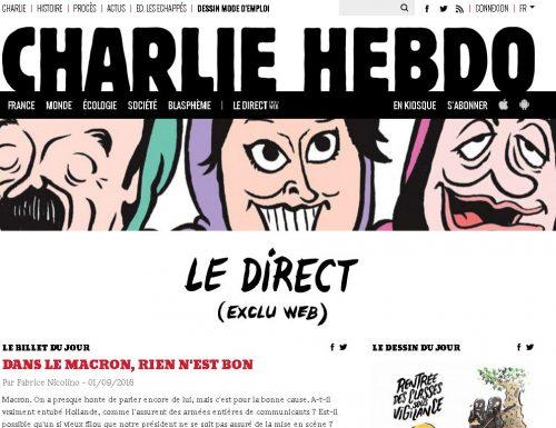 Sparita la vignetta satirica di Charlie Hebdo che tanto ha fatto infuriare gli italiani.