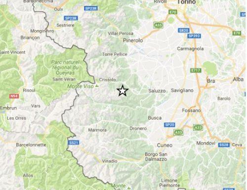Scossa di terremoto nella Provincio di Cuneo
