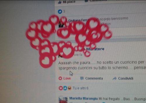 Nuova funzione Facebook oggi dei cuoricini. Esplodono, in occasione della Giornata internazionale della pace.