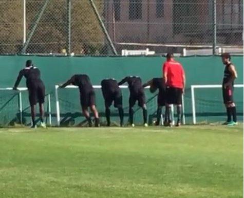 """Mario Balotelli in diretta live mentre si allena nel """"NICE"""""""