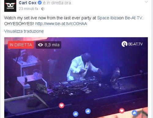 Carl Kox, il set live a Ibiza