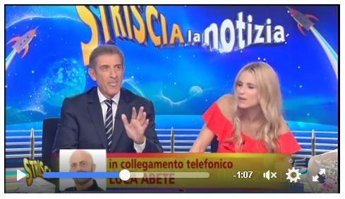 Minacce di morte: Michelle Hunziker e Ezio Greggio chiamano in diretta Luca Abete