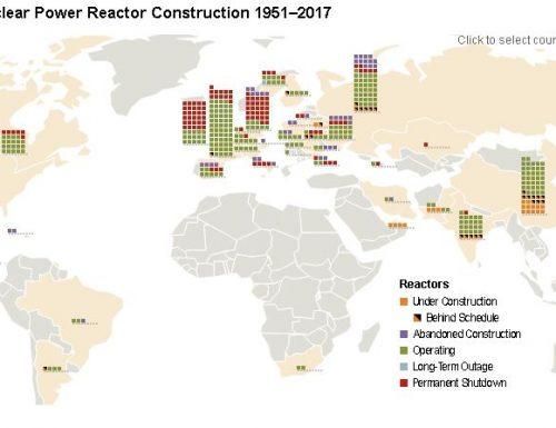 La mappa aggiornata di tutte le centrali nucleari nel mondo. Basta nucleare..!!