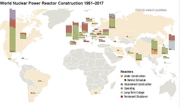 Cartina Centrali Nucleari Nel Mondo.La Mappa Aggiornata Di Tutte Le Centrali Nucleari Nel Mondo Basta Nucleare L Evidenziatore Del Web