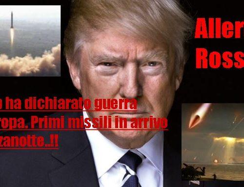 Trump ha dichiarato guerra all'Europa. Primi missili in arrivo a mezzanotte..!!