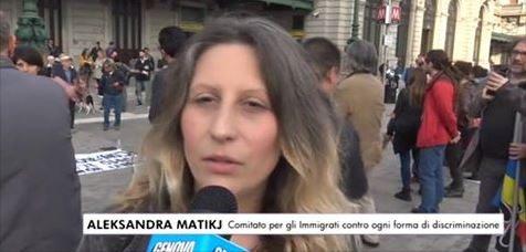 Aleksandra Matikj.CONTRO IL DECRETO DEL MINISTRO MINNITI