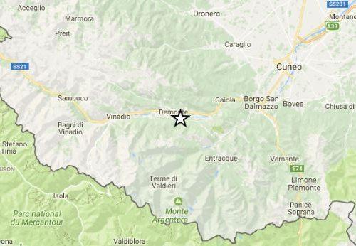 Provincia di Cuneo. Terremoto di magnitudo ML 3.3