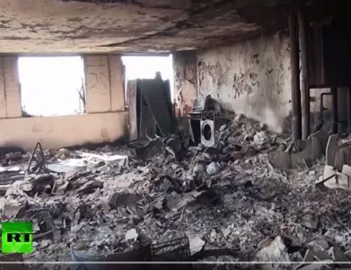 Grenfell Tower. Un video inedito all'interno del palazzo.