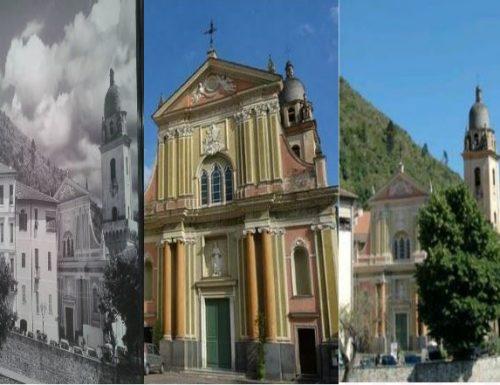 DOLCEACQUA. Cancellate le croci dalla chiesa e dal campanile in un poster incollato in un luogo pubblico molto frequentato.