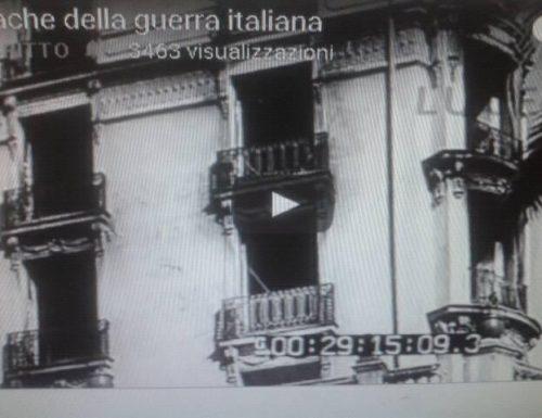 Bombardieri sorvolano e bombardano Ventimiglia. Esplosioni su Ventimiglia provocate dal bombardamento dell'artiglieria francese
