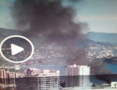 VIDEO.Grosso incendio in pieno centro a Monte Carlo.