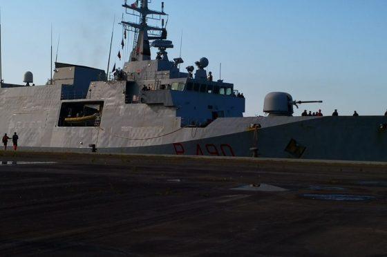 È appena attraccata al Porto di Genova la nave della Marina Militare Italiana Cigala Fulgosi