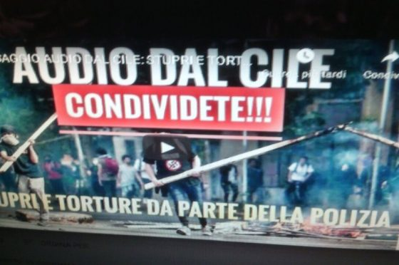 Cile. Italiana chiede aiuto da un centro detenzione illegale…di nascosto dai militari.