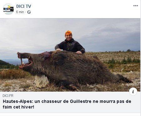 Incredibile..!! Un cinghiale di 168 kg è stato catturato da questo giovane cacciatore in Francia a pochi km dal confine con l'Italia.