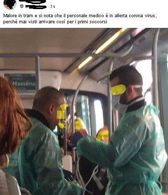 Nizza. Place Massena.  Giovane di origine asiatica accusa malore in tram e subito scatta la prassi..