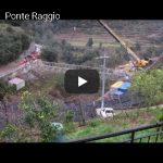 Video velocizzato della costruzione del ponte di Rocchetta Nervina