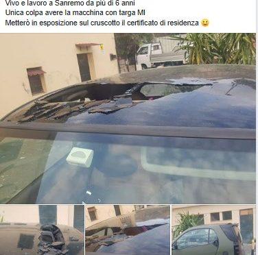 Abito in Liguria ma mi hanno distrutto l'auto solo perché targato Milano.