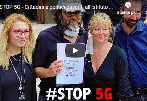 STOP 5G – Cittadini e politici davanti all'Istituto Superiore di Sanità