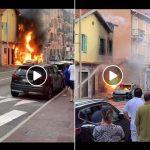 Incendio a Saint Roman all'entrata di monaco. Video.