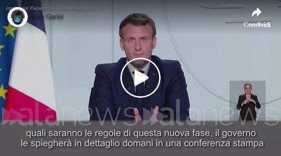 Il discorso di Macron tradotto in italiano.