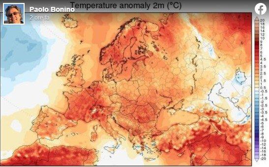Emergenza climatica. L'anomalia termica sta investendo il nostro paese.