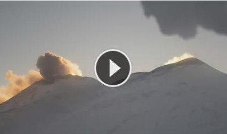Eruzione in live del Vulcano Etna. Webcam