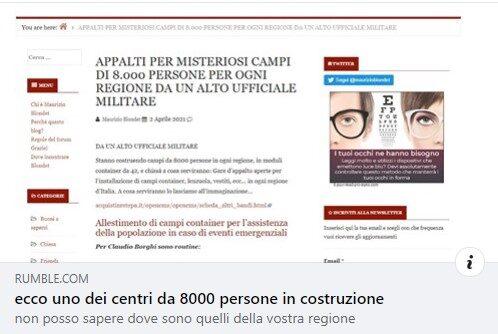 Campi Fema Bergamo. Abbiamo scoperto la verità.