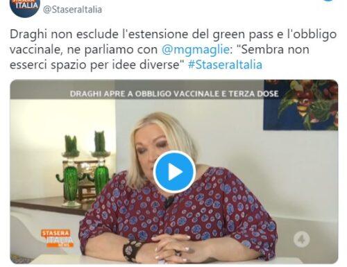 Oggi Draghi per quanto mi riguarda ha dato un pessimo esempio secondo il mio punto di vista. Maria Giovanna Maglie in Stasera Italia.